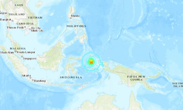 A magnitude 7.3 earthquake strikes eastern Indonesia on July 14, 2019. (USGS)