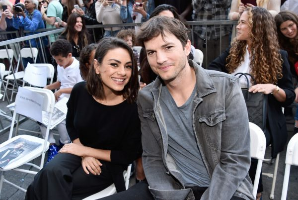Mila Kunis (L) and Ashton Kutcher