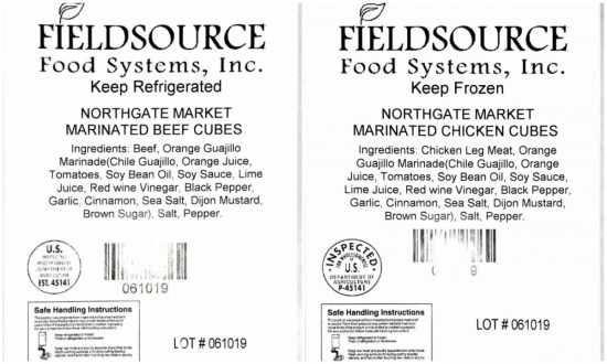 Nearly 13,000 Pounds of Beef and Chicken Products Recalled Due to Undeclared Allergens