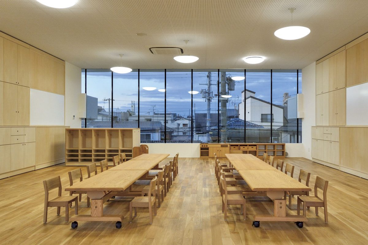An educational facility in Osaka, Japan with Hida furniture