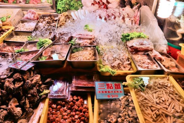 Fresh seafood in Keelung City