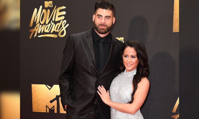 TV personality Jenelle Evans (L) and David Eason attend the 2016 MTV Movie Awards at Warner Bros. Studios in Burbank, Calif., on April 9, 2016. (Frazer Harrison/File Photo via Getty Images)