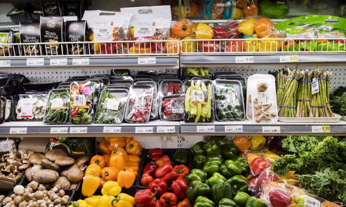 Produce is shown in a grocery store in Toronto in this file photo. Anemic spending by lower-income households on food was one reason for lower-than-expected inflation in the post-2012 economic recovery. (The Canadian Press/Nathan Denette)