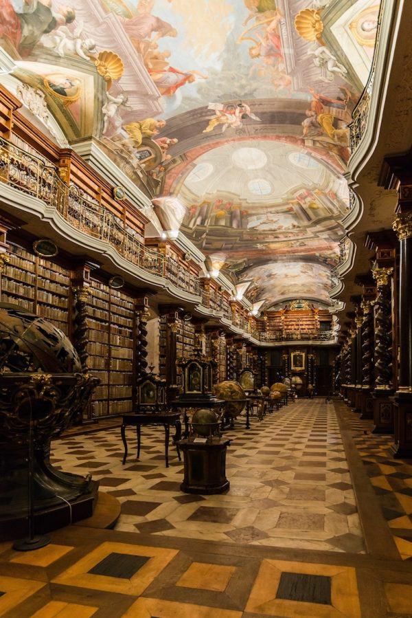 Klementinum library in Prague