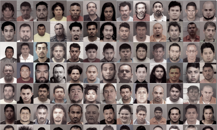 Mugshots of illegal aliens who were arrested on allegations of child sex crimes in North Carolina between October 2018 and June 2019.