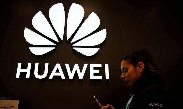 Huawei signage is pictured at their store at Vina del Mar, Chile on July 14, 2019. (Rodrigo Garrido/Reuters)