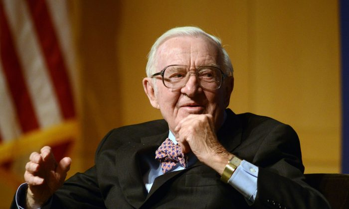 John Paul Stevens at the National Constitution Center in Philadelphia, Pennsylvania on April 28 2014. (William Thomas Cain/Getty Images)