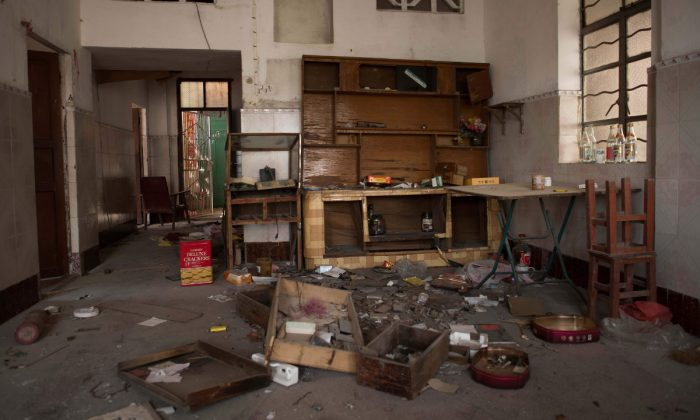 An abandoned apartment in China. (Nicolas Asfouri/AFP/Getty Images)