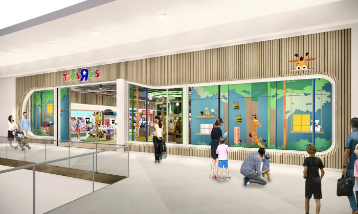 "An artist's rendering of a new Toys""R""Us store, which will be a fraction of the brand's former big box stores size. (Courtesy of Toys""R""Us via AP)"