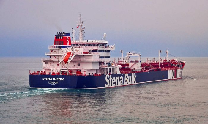 Undatedhandout photograph shows theStenaImpero, a British-flagged vessel owned byStenaBulk, at anundisclosedlocation, obtained by Reuters on July 19, 2019. (Stena Bulk/via Reuters)