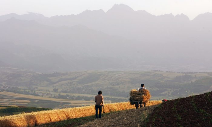 A countryside in Shaanxi Province, China. (China Photos/Getty Images)