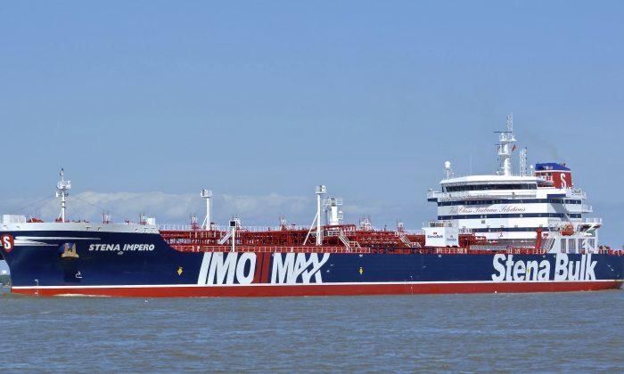 The British oil tanker Stena Imperio at unknown location on May 5, 2019. (Basil M. Karatzas, Karatzas Images via AP)