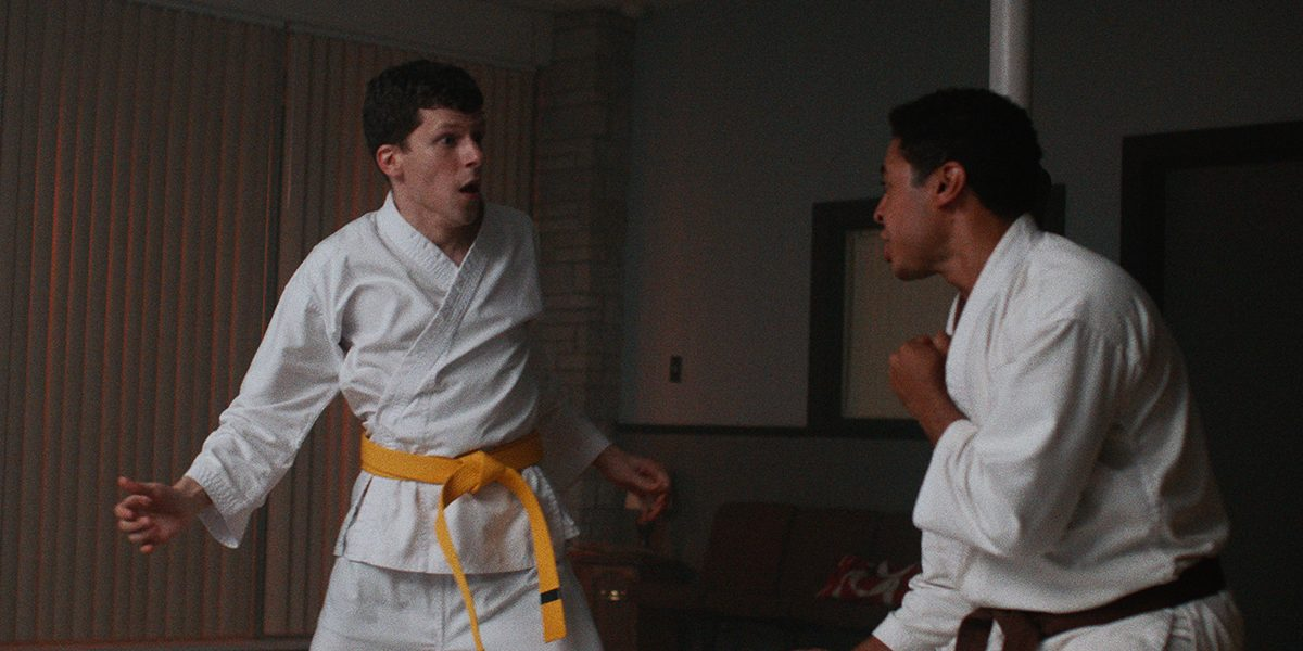 two men sparring