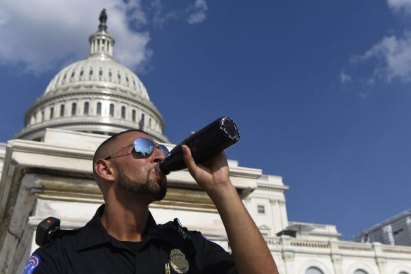 A Capitol Hill police officer