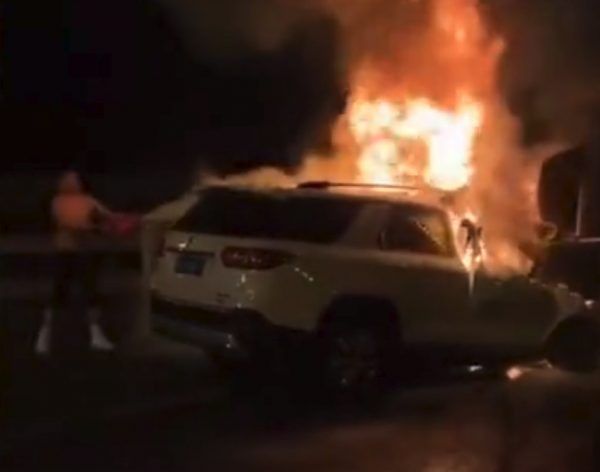 car crash fire