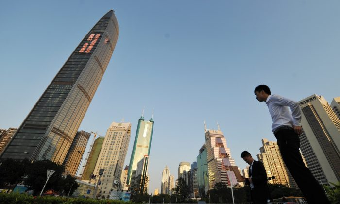 Buildings in Shenzhen, Guangdong Province, China. (Peter Parks/AFP/Getty Images)