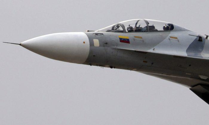 A Venezuelan Air Force Sukhoi Su-30MK2 aircraft. (Juan Barreto/AFP/Getty Images)