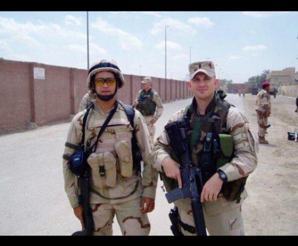 Jasim with a U.S. soldier