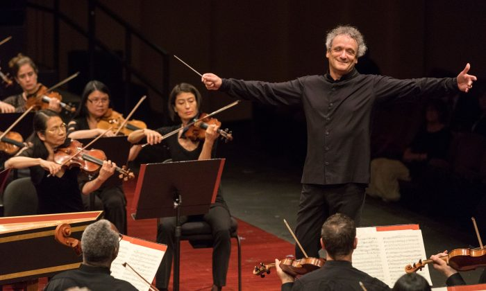 Music Director Louis Langrée conducts the Mostly Mozart Festival Orchestra. (Richard Termine)