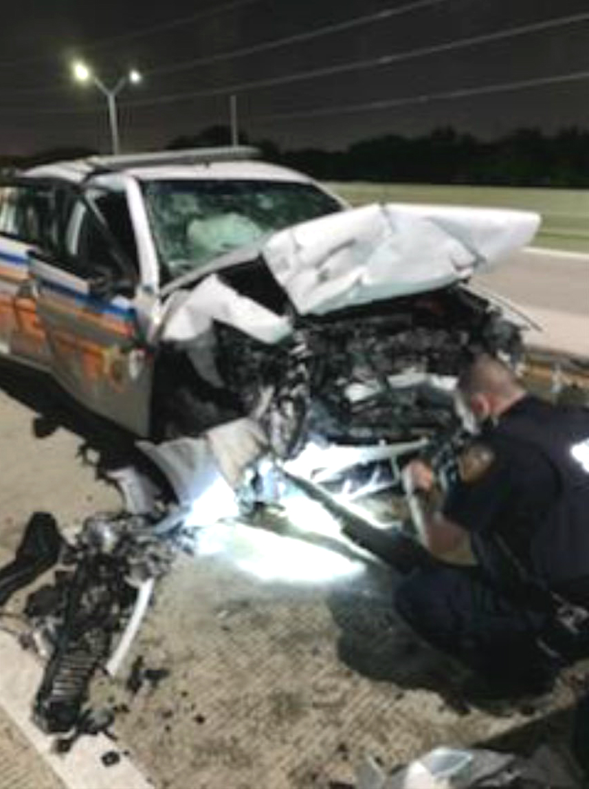 Suspected Drunken Driver Slams Into Patrol Car, Killing Prisoner Under Arrest for Drunk Driving