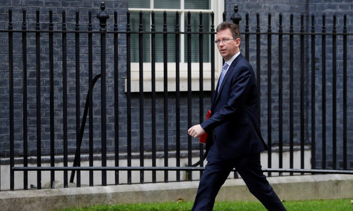 Britain's Secretary of State for Digital, Culture, Media and Sport Jeremy Wright arrives at Downing Street in London, Britain on June 11, 2019. (Peter Nicholls/Reuters)