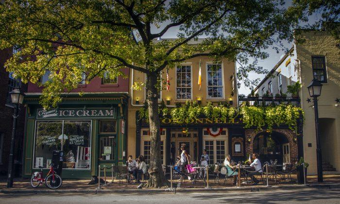 Old Town Alexandria's main street, King Street. (K Summerer for Visit Alexandria)