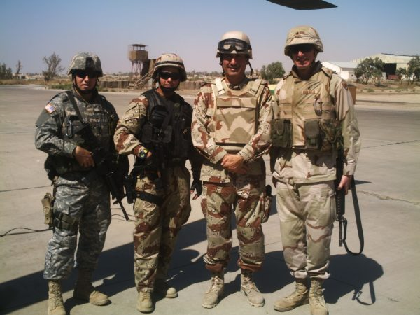 Jasim with soldiers