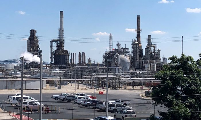 The Philadelphia Energy Solutions oil refinery is shown following a recent fire that caused significant damage to the complex, in Philadelphia, Pennsylvania on  June 26, 2019. (Laila Kearney/File Photo/Reuters)