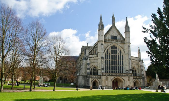 Winchester Cathedral. Author Jane Austen was one of the last people to be buried there. (Shutterstock)