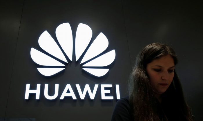 A Huawei logo is pictured at their store at Vina del Mar, Chile on July 18, 2019. (Rodrigo Garrido/Reuters)