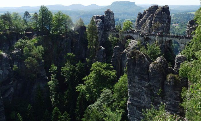 A view of the Bastei Bridge in Saxon Switzerland National Park. (John M. Smith)