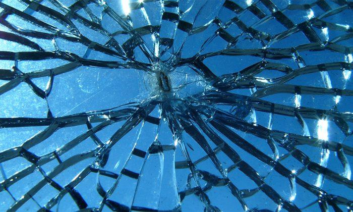 A file image of broken glass. (Jef Poskanzer/Wikimedia Commons)