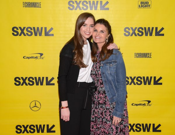 "Producers Christina Schwarzenegger and Maria Shriver attend the ""Take Your Pills"" red carpet premiere"