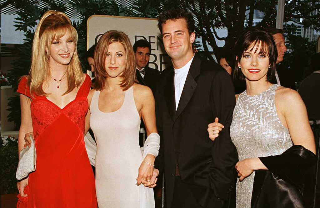 "The cast of the hit U.S. TV show ""Friends"""