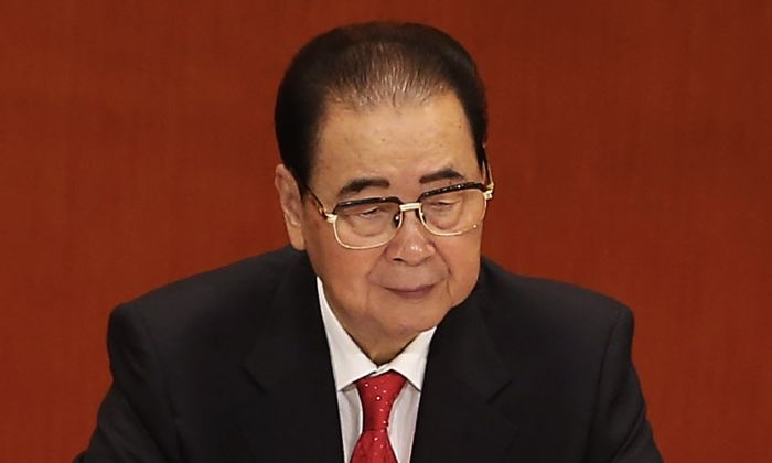 Chinese former premier Li Peng attend the opening session of the 18th Communist Party Congress held at the Great Hall of the People in Beijing on Nov. 8, 2012. (Lintao Zhang/Getty Images)