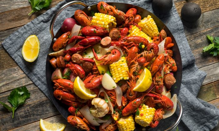 These feasts vary depending on the location and what's in season, but usually involve making large, simmering pots of shrimp, crab, or crawfish. (Shutterstock)
