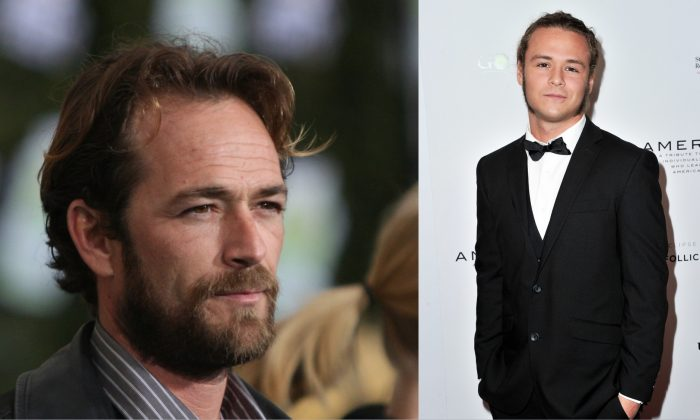 (L) Actor Luke Perry at The Walt Disney Studios in Burbank, Cali., on Feb. 19, 2008. (R) Jack Perry attends an awards ceremony in Beverly Hills, Cali. on May 19, 2019. (Mark Davis/Getty Images / Allen Berezovsky/Getty Images)
