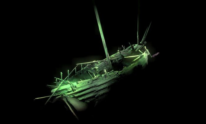 A 3D computer image of the shipwreck in the Baltic Sea. (Deep Sea Productions/MMT)