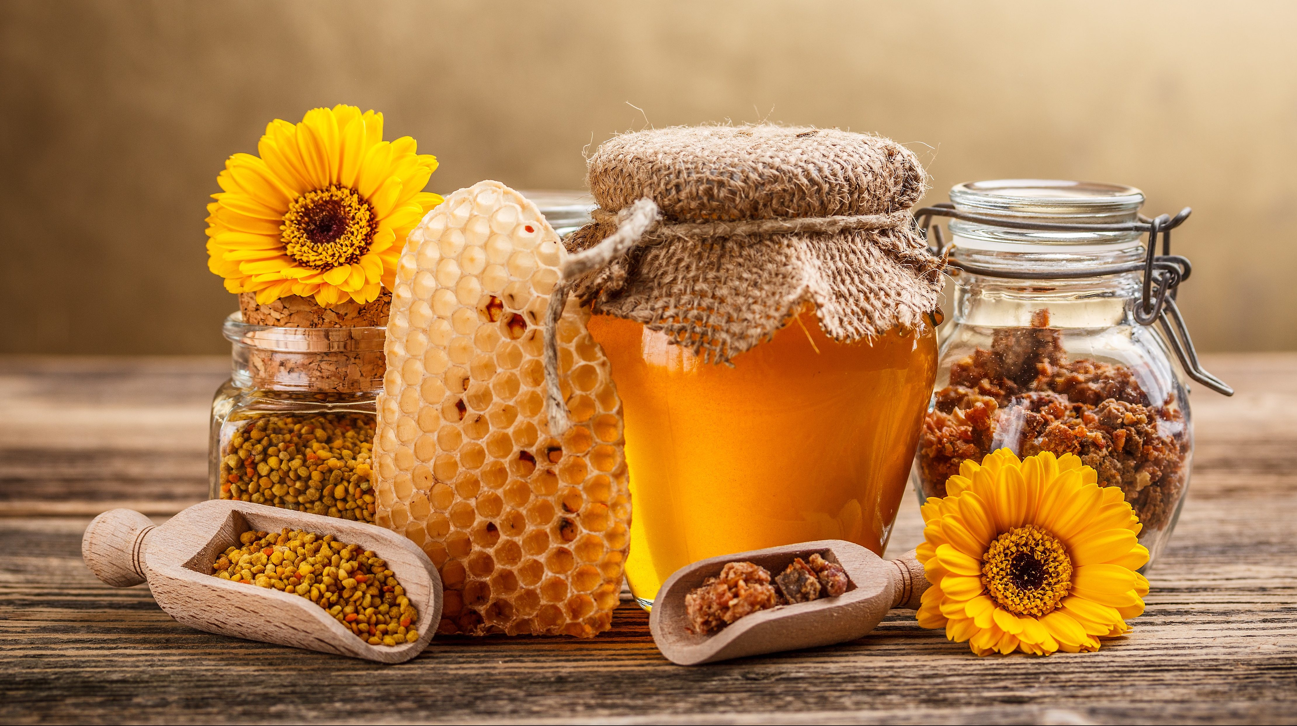 Honey contains over 181 health-promoting substances and turns the healthy vitality of plants into an energizing food perfect for humans.(grafvision/Shutterstock)
