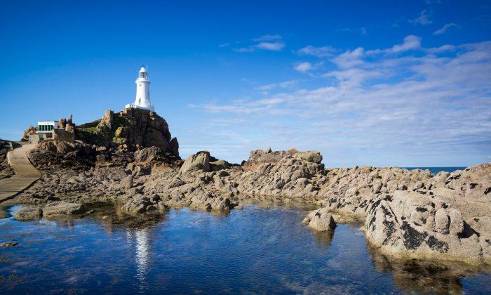 La Corbière Lighthouse in St. Brélade, Jersey. (David Genders)