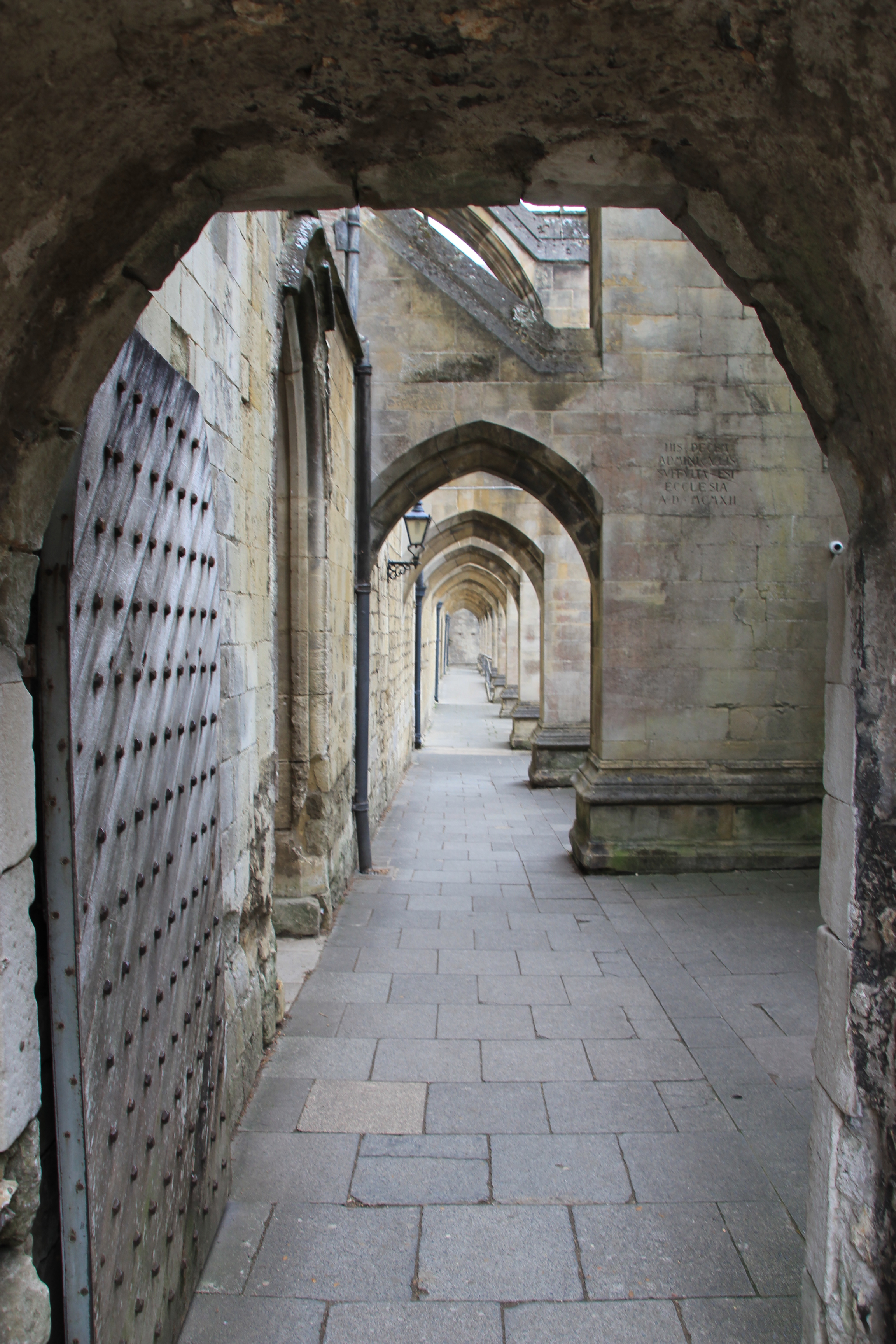 stome arches Keats walked under, Winchester Cathedral Wibke Carter