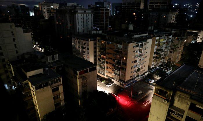 A general view is seen during a blackout in Caracas, Venezuela July 22, 2019. (Reuters/Manaure Quintero)
