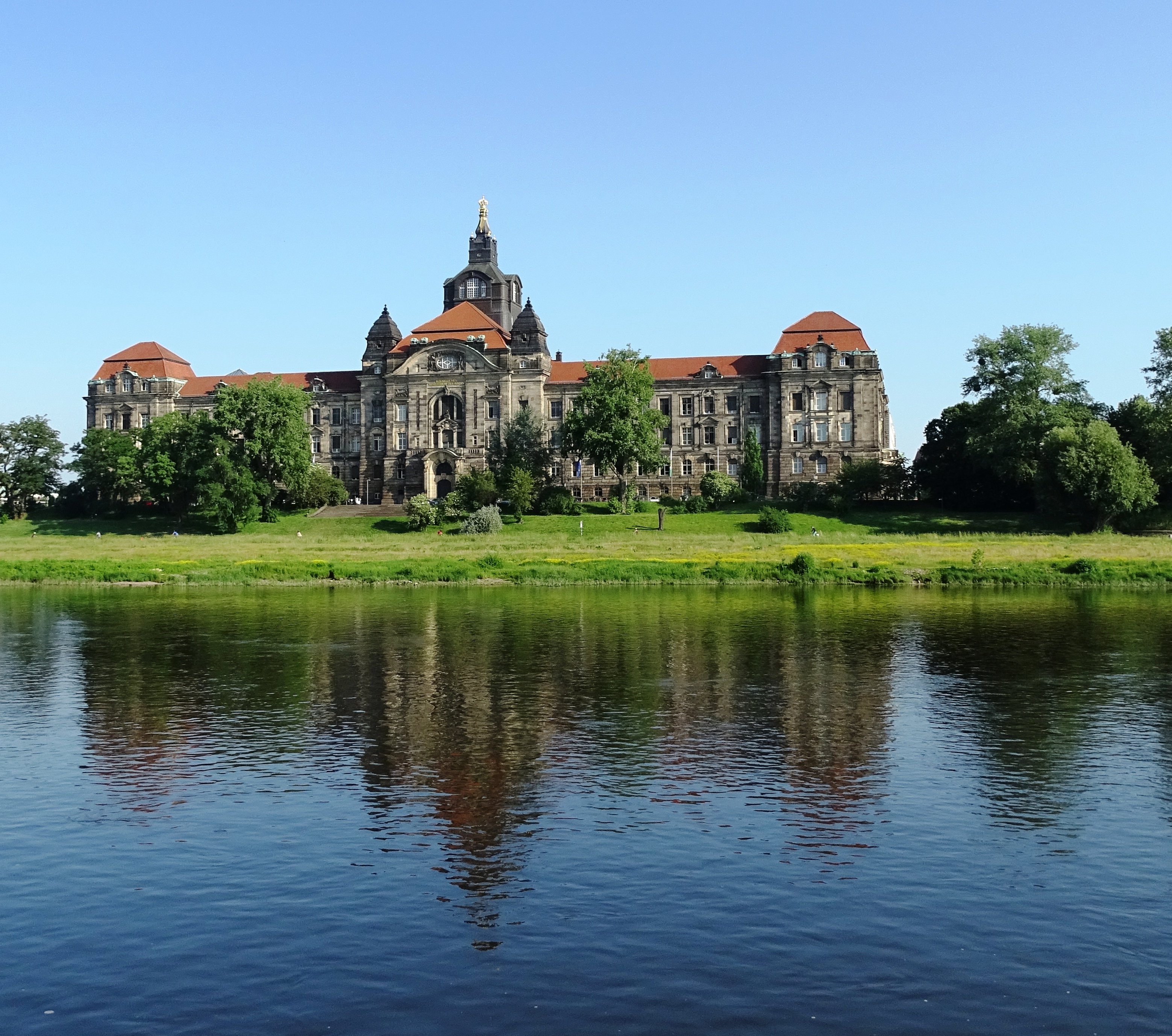we docked across from the Parliament Bldg in DRESDEN