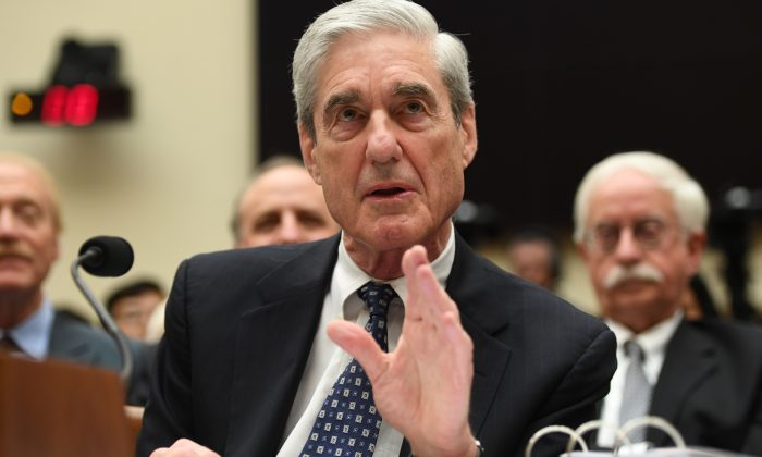 Former special prosecutor Robert Mueller testifies before Congress in Washington, on July 24, 2019. (Saul Loeb/AFP/Getty Images)