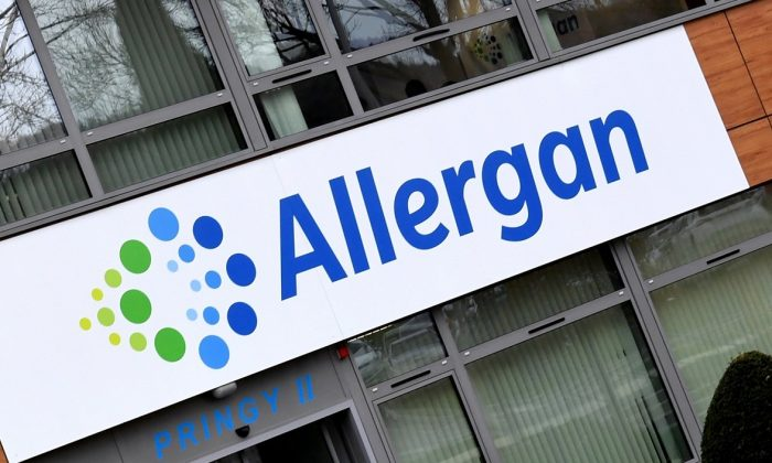 The Allergan group headquarters in Pringy, eastern France on Nov. 7, 2017. (Jean-Pierre Clatot/AFP/Getty Images)