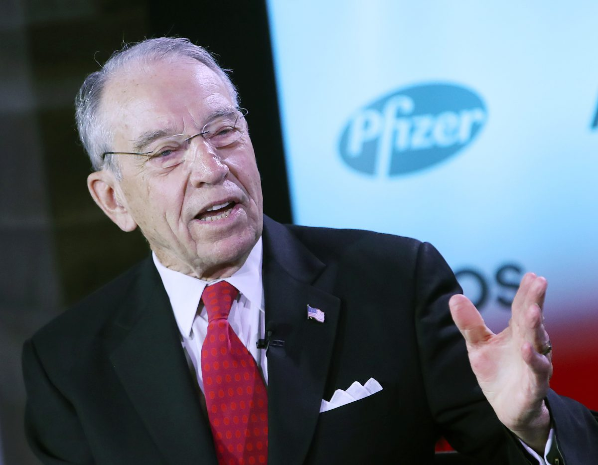 Chuck Grassley during a forum