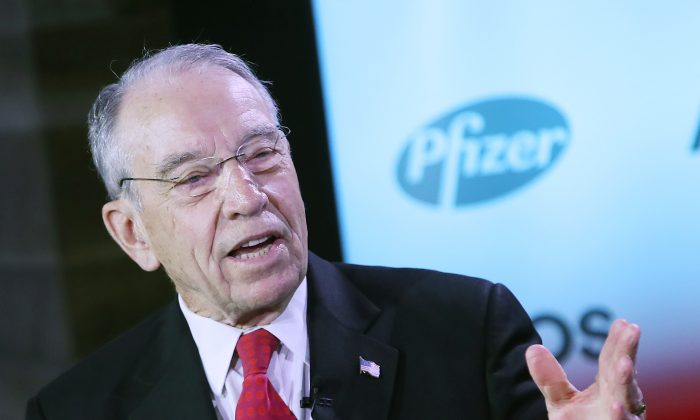 Senate Finance Committee Chairman Chuck Grassley (R-Iowa) during a forum on the future of health care and drug pricing in America, in Washington on June 5, 2019. (Mark Wilson/Getty Images)