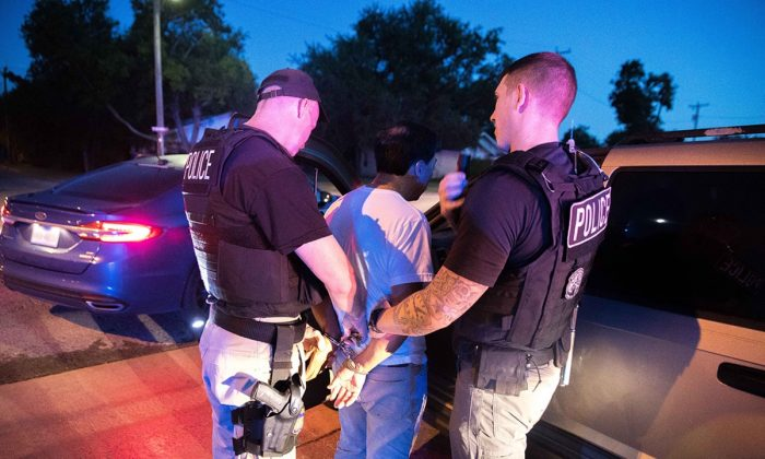 ICE arrests 75 in North Texas and Oklahoma areas during 4-day operation targeting criminal aliens and immigration fugitives that ended on June 6, 2019. (U.S. Immigration and Customs Enforcement)