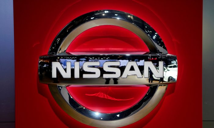 A Nissan logo is pictured during the media day for the Shanghai auto show in Shanghai, China on April 16, 2019. (Aly Song/Reuters)