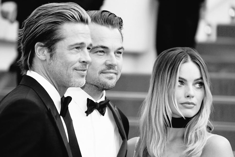 3 movie starsBrad Pitt, Leonardo Di Caprio, Margot Robbie